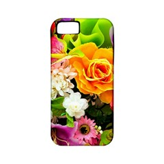 Colorful Flowers Apple Iphone 5 Classic Hardshell Case (pc+silicone) by BangZart