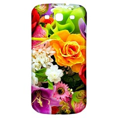 Colorful Flowers Samsung Galaxy S3 S Iii Classic Hardshell Back Case by BangZart