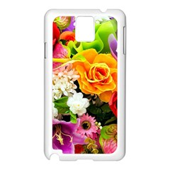 Colorful Flowers Samsung Galaxy Note 3 N9005 Case (white) by BangZart