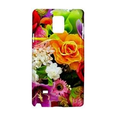 Colorful Flowers Samsung Galaxy Note 4 Hardshell Case by BangZart