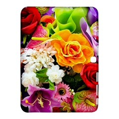 Colorful Flowers Samsung Galaxy Tab 4 (10 1 ) Hardshell Case  by BangZart