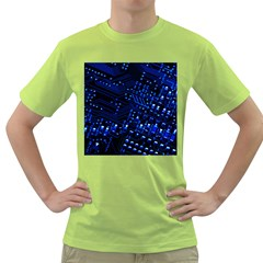 Blue Circuit Technology Image Green T Shirt