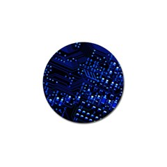 Blue Circuit Technology Image Golf Ball Marker (4 Pack)