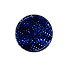 Blue Circuit Technology Image Hat Clip Ball Marker by BangZart
