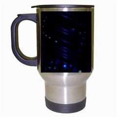Blue Circuit Technology Image Travel Mug (silver Gray) by BangZart