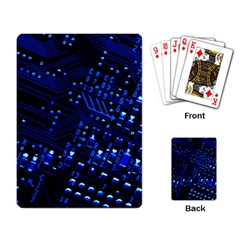Blue Circuit Technology Image Playing Card