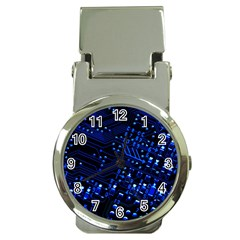 Blue Circuit Technology Image Money Clip Watches