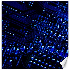 Blue Circuit Technology Image Canvas 12  X 12