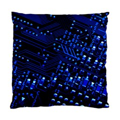 Blue Circuit Technology Image Standard Cushion Case (one Side)