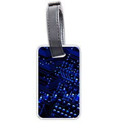 Blue Circuit Technology Image Luggage Tags (two Sides) by BangZart