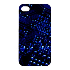 Blue Circuit Technology Image Apple Iphone 4/4s Premium Hardshell Case by BangZart