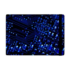 Blue Circuit Technology Image Apple Ipad Mini Flip Case by BangZart