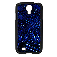Blue Circuit Technology Image Samsung Galaxy S4 I9500/ I9505 Case (black) by BangZart