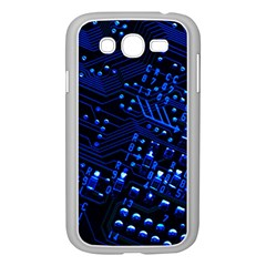 Blue Circuit Technology Image Samsung Galaxy Grand Duos I9082 Case (white)