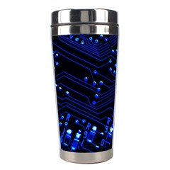 Blue Circuit Technology Image Stainless Steel Travel Tumblers by BangZart