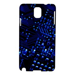 Blue Circuit Technology Image Samsung Galaxy Note 3 N9005 Hardshell Case by BangZart
