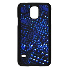 Blue Circuit Technology Image Samsung Galaxy S5 Case (black) by BangZart