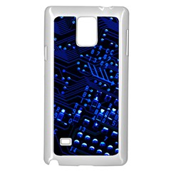 Blue Circuit Technology Image Samsung Galaxy Note 4 Case (white)