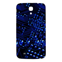 Blue Circuit Technology Image Samsung Galaxy Mega I9200 Hardshell Back Case by BangZart