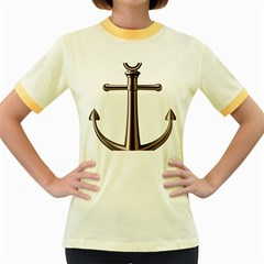 Anchor Women s Fitted Ringer T Shirts