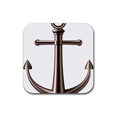 Anchor Rubber Square Coaster (4 Pack)  by BangZart