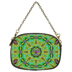 Golden Star Mandala In Fantasy Cartoon Style Chain Purses (two Sides)  by pepitasart