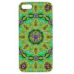 Golden Star Mandala In Fantasy Cartoon Style Apple Iphone 5 Hardshell Case With Stand by pepitasart