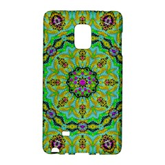 Golden Star Mandala In Fantasy Cartoon Style Galaxy Note Edge by pepitasart