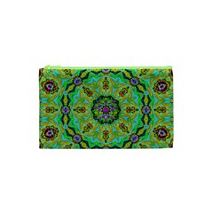 Golden Star Mandala In Fantasy Cartoon Style Cosmetic Bag (xs) by pepitasart