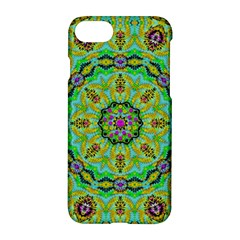 Golden Star Mandala In Fantasy Cartoon Style Apple Iphone 7 Hardshell Case by pepitasart