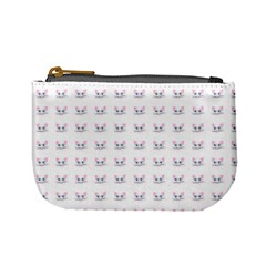 Pink Cute Cat Pattern Mini Coin Purses by paulaoliveiradesign