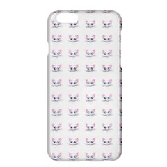 Pink Cute Cat Pattern Apple Iphone 6 Plus/6s Plus Hardshell Case by paulaoliveiradesign