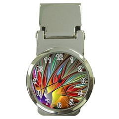 Fractal Bird Of Paradise Money Clip Watches by WolfepawFractals
