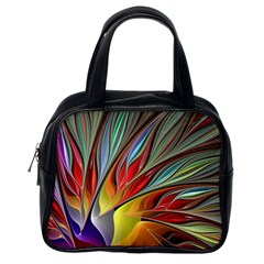 Fractal Bird Of Paradise Classic Handbags (one Side)