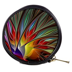 Fractal Bird Of Paradise Mini Makeup Bags by WolfepawFractals