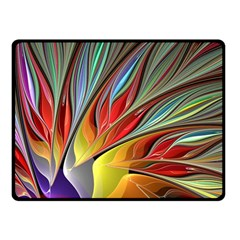 Fractal Bird Of Paradise Fleece Blanket (small) by WolfepawFractals