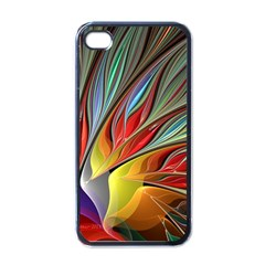 Fractal Bird Of Paradise Apple Iphone 4 Case (black) by WolfepawFractals