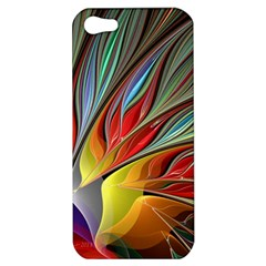 Fractal Bird Of Paradise Apple Iphone 5 Hardshell Case by WolfepawFractals