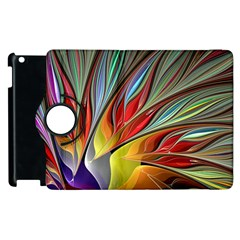 Fractal Bird Of Paradise Apple Ipad 2 Flip 360 Case by WolfepawFractals