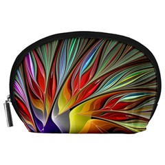 Fractal Bird Of Paradise Accessory Pouches (large)