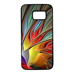 Fractal Bird Of Paradise Samsung Galaxy S7 Black Seamless Case by WolfepawFractals