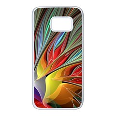 Fractal Bird Of Paradise Samsung Galaxy S7 White Seamless Case