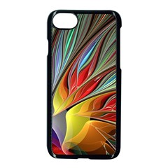 Fractal Bird Of Paradise Apple Iphone 7 Seamless Case (black) by WolfepawFractals