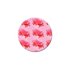 Pink Floral Pattern Golf Ball Marker (4 Pack) by paulaoliveiradesign
