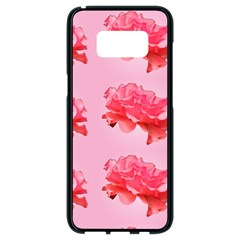 Pink Floral Pattern Samsung Galaxy S8 Black Seamless Case
