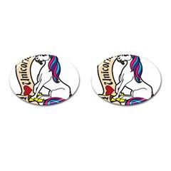 I Love Unicorn  Cufflinks (oval) by ninabolenart