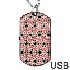 Black Stars Pattern Dog Tag Usb Flash (one Side) by linceazul