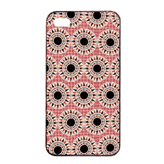Black Stars Pattern Apple Iphone 4/4s Seamless Case (black) by linceazul