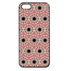 Black Stars Pattern Apple Iphone 5 Seamless Case (black) by linceazul