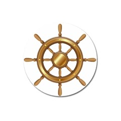 Boat Wheel Transparent Clip Art Magnet 3  (round)
